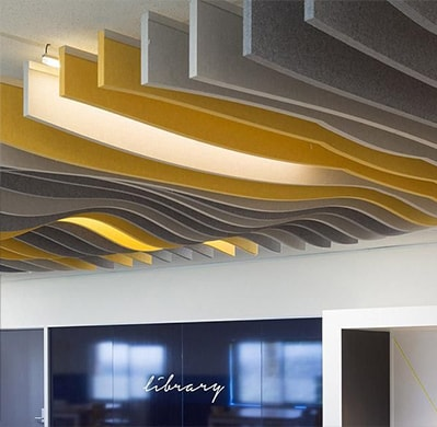 An image of Heartland Companies Acoustic Baffles work