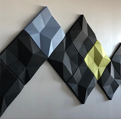 An image of Heartland Companies Acoustic Wall Panels work