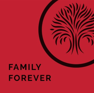 Graphic image of family forever logo on Heartland Companies family forever Page