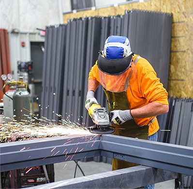An image of Heartland Companies Hollow Metal Door fabrication work