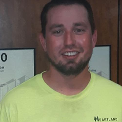 Color Image of Brandon Stotser, Carpenter for Heartland Companies